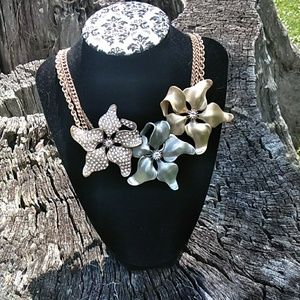 Lane Bryant  Statement necklace with flowers